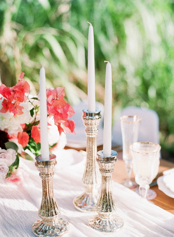 vintage silver candle sticks for your wedding table centerpiece
