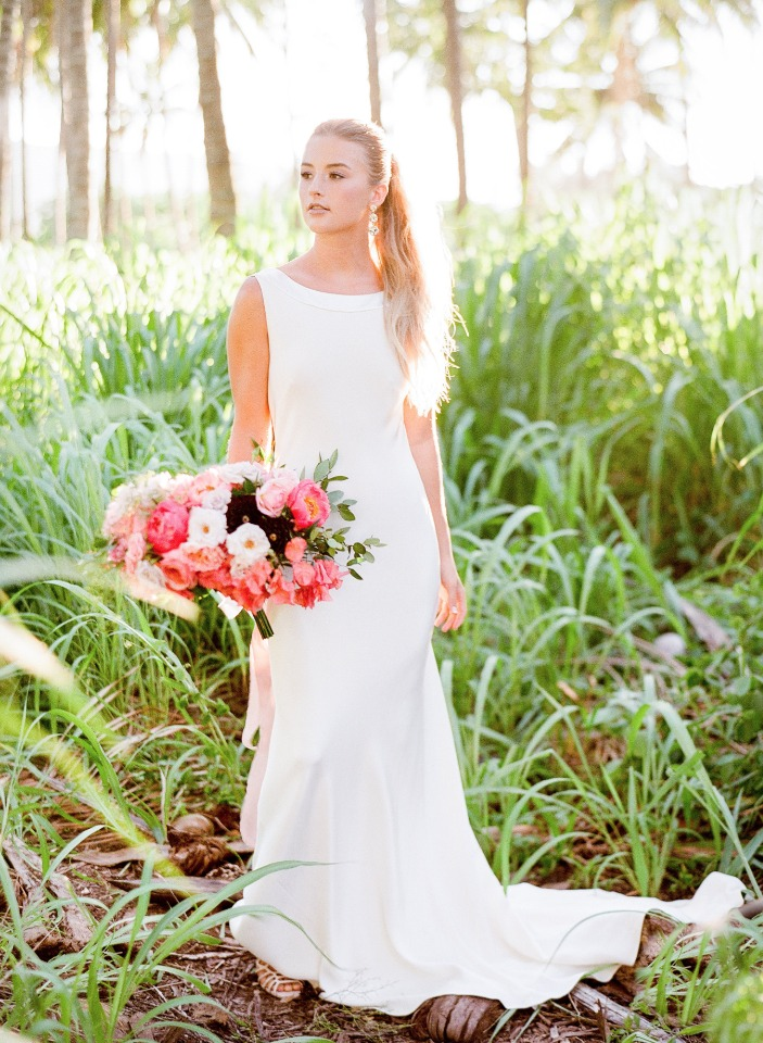 modern simple and chic wedding gown