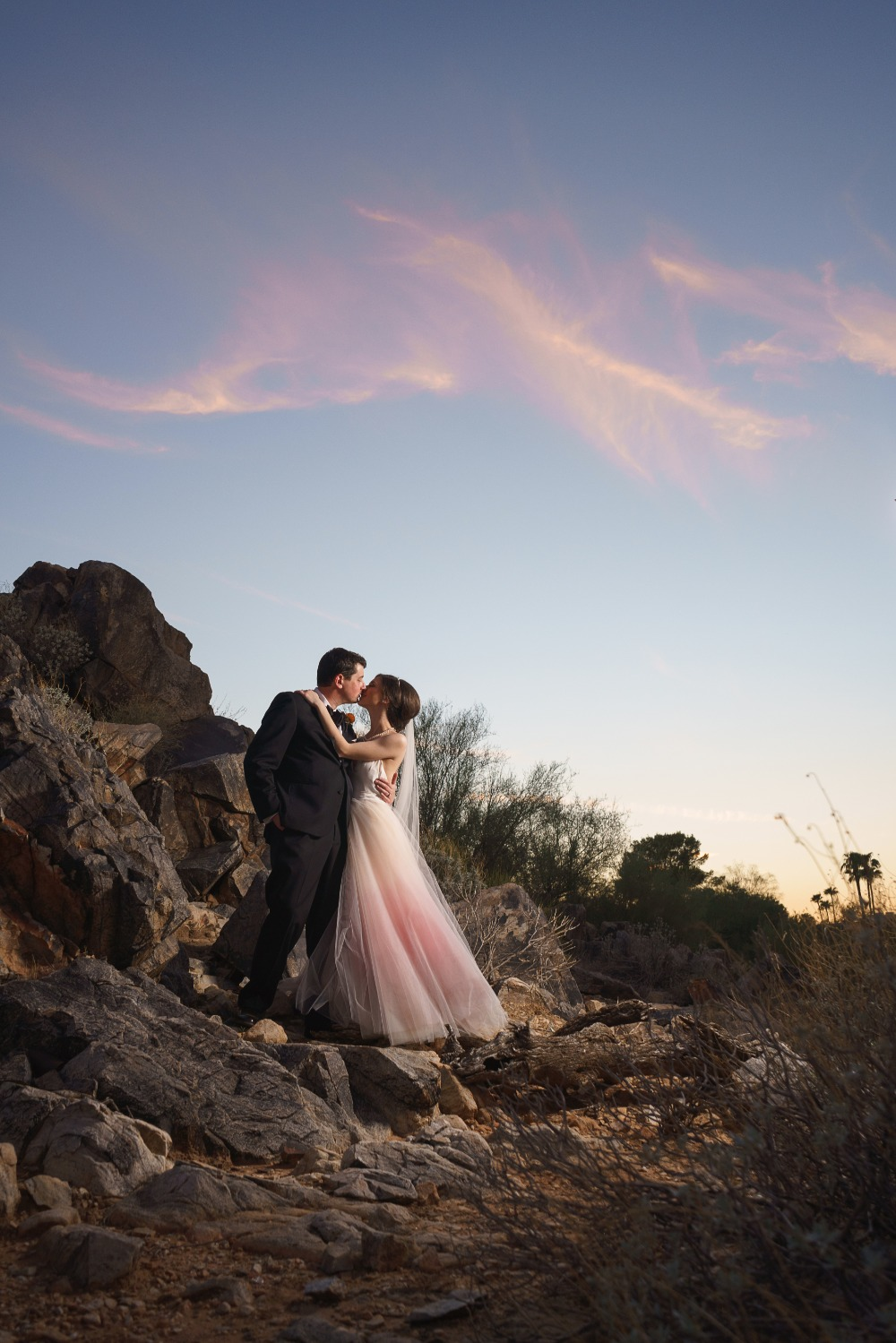 Twilight wedding portrait ideas