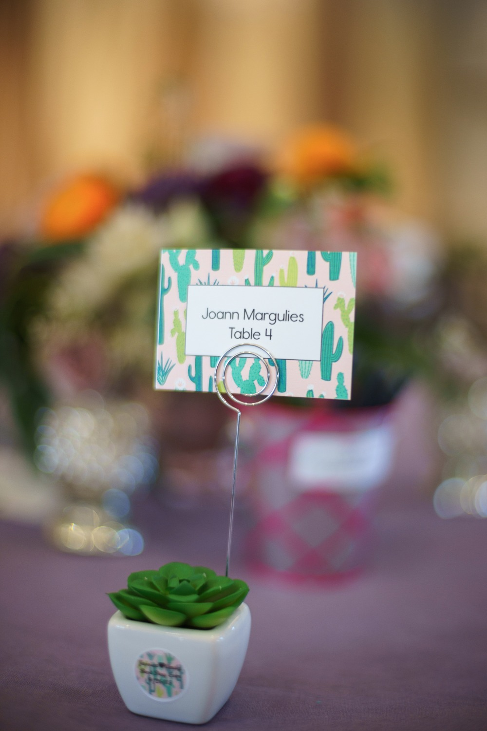 Tiny succulent wedding favors