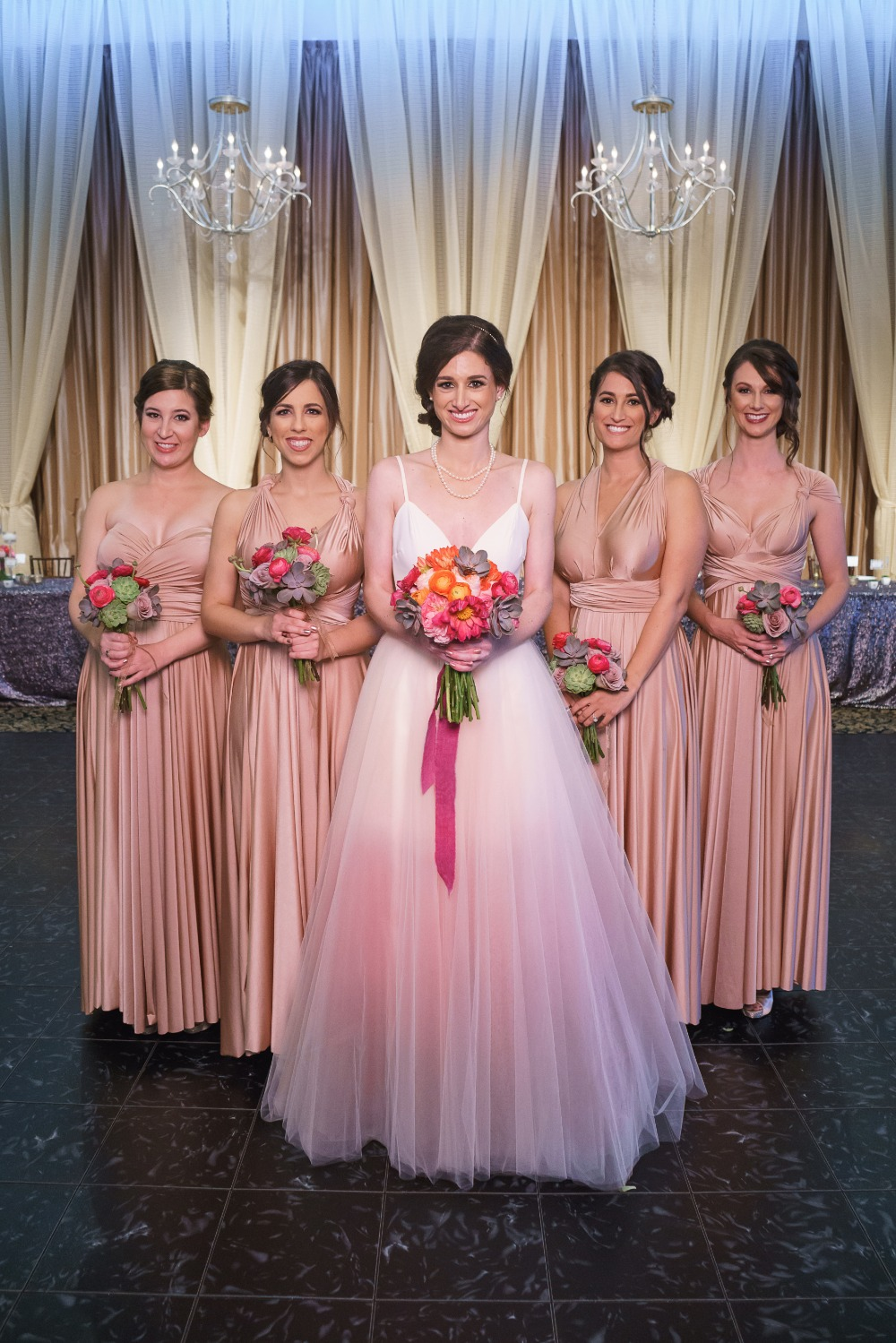 Matching bridesmaids
