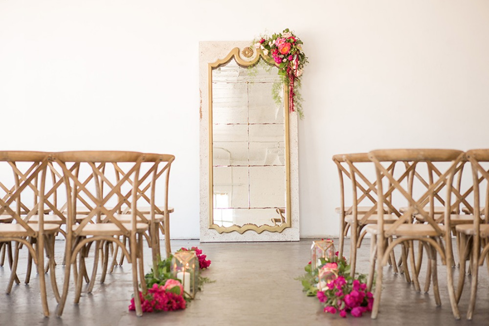 Pretty ceremony decor