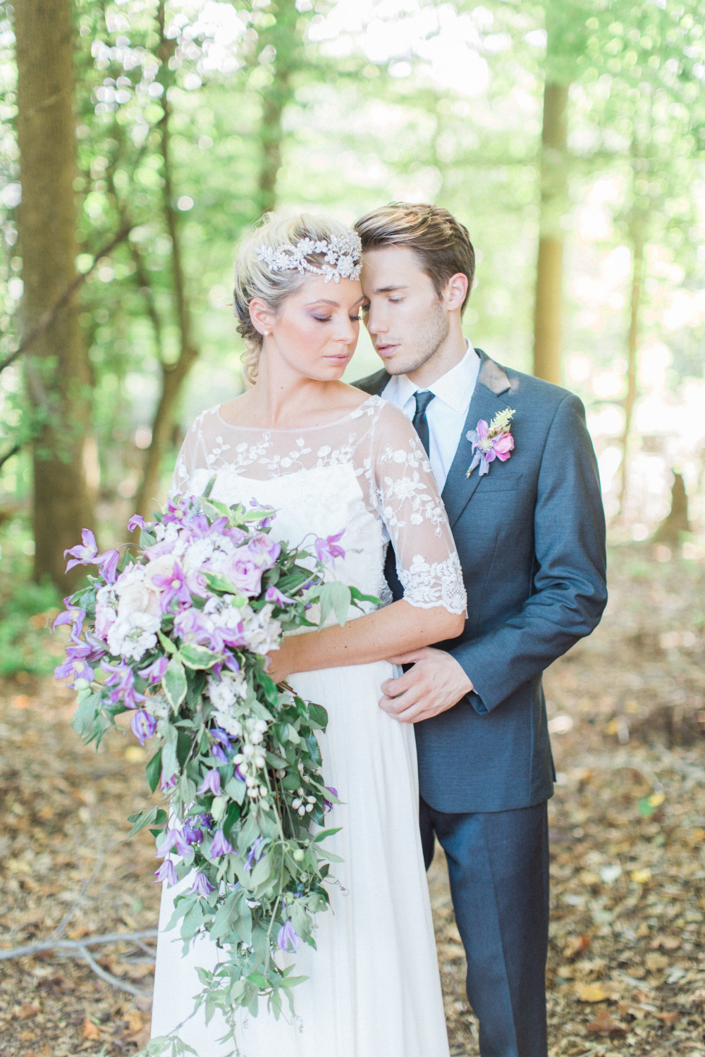Purple Flower Heaven Wedding Inspiration