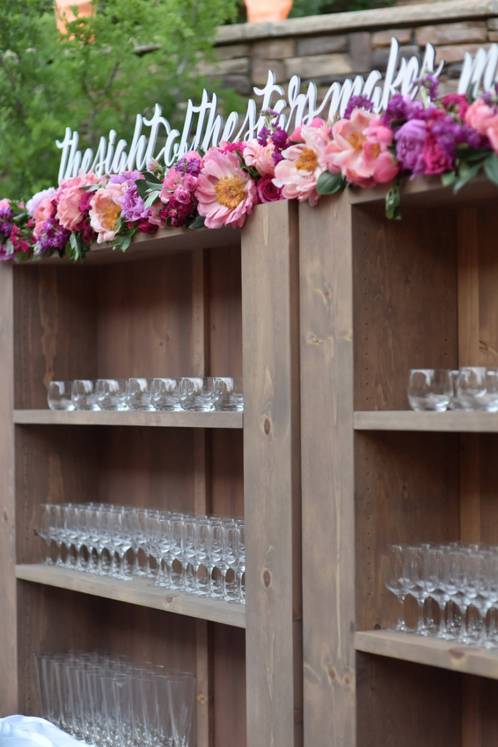 Cute wedding bar decor