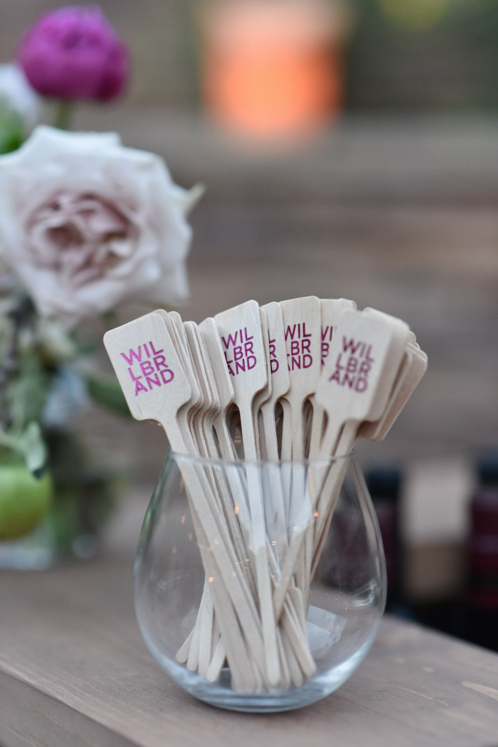 Monogram stir sticks