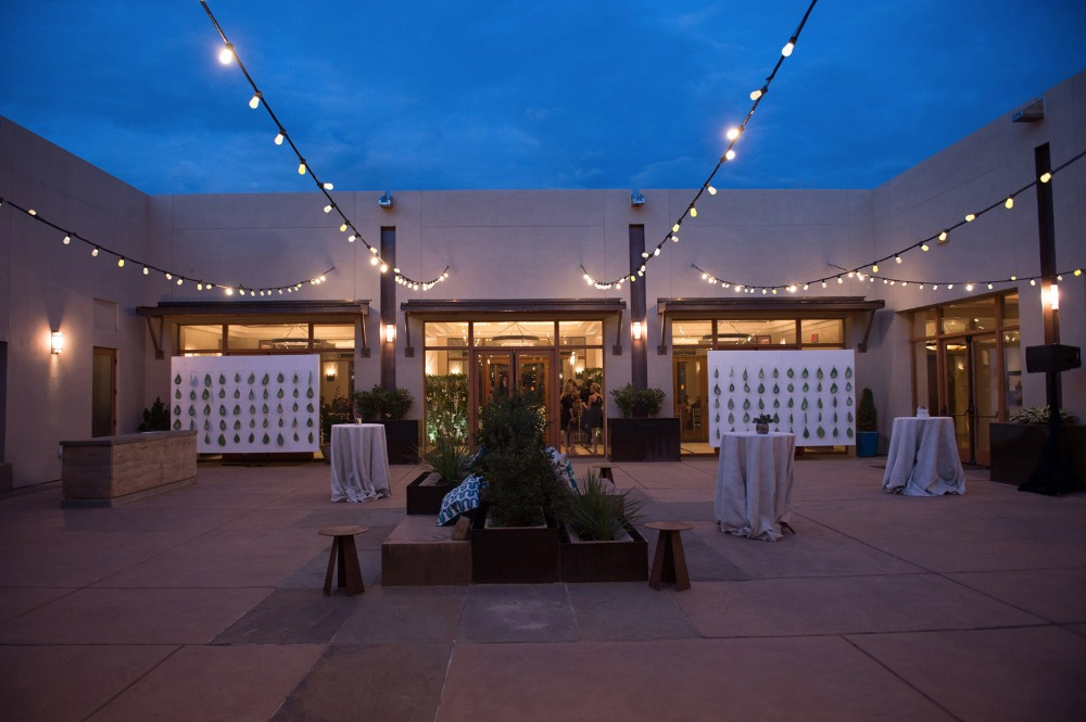 Outdoor patio reception lighting