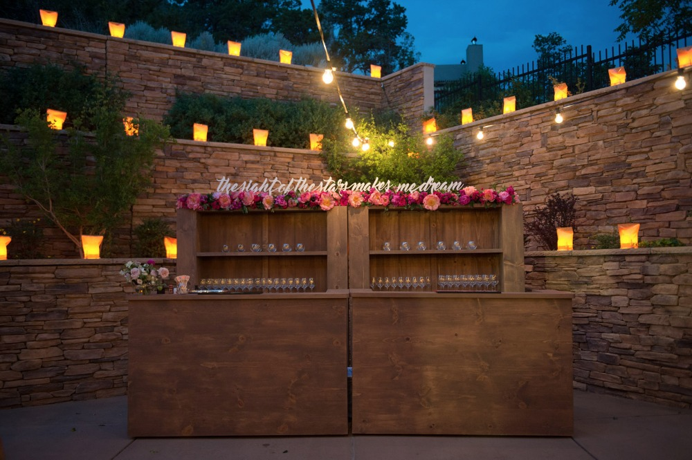 Chic wedding bar