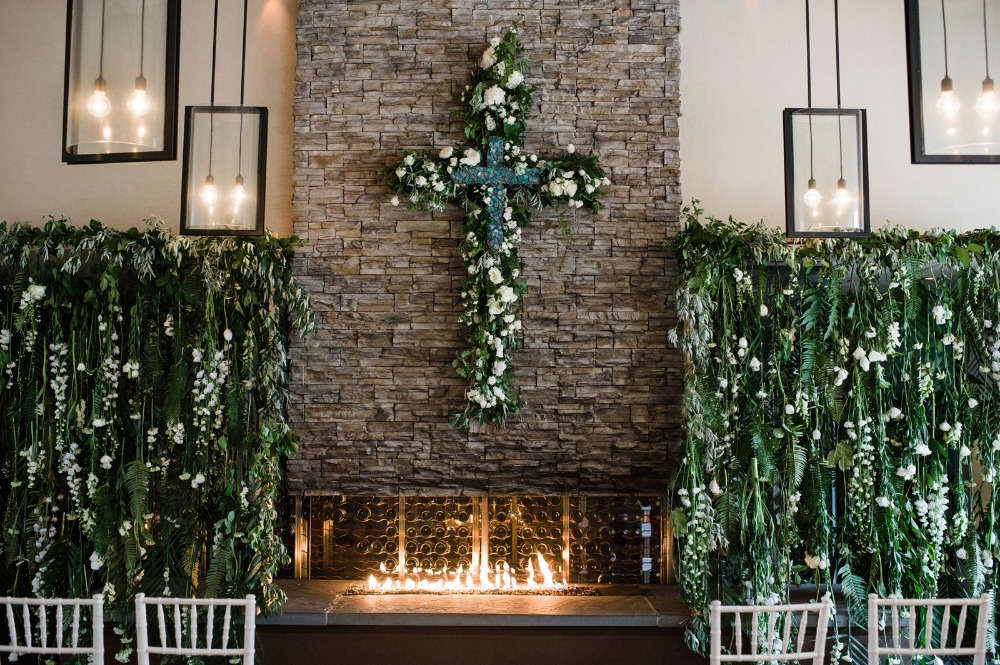 Greenery ceremony decor ideas