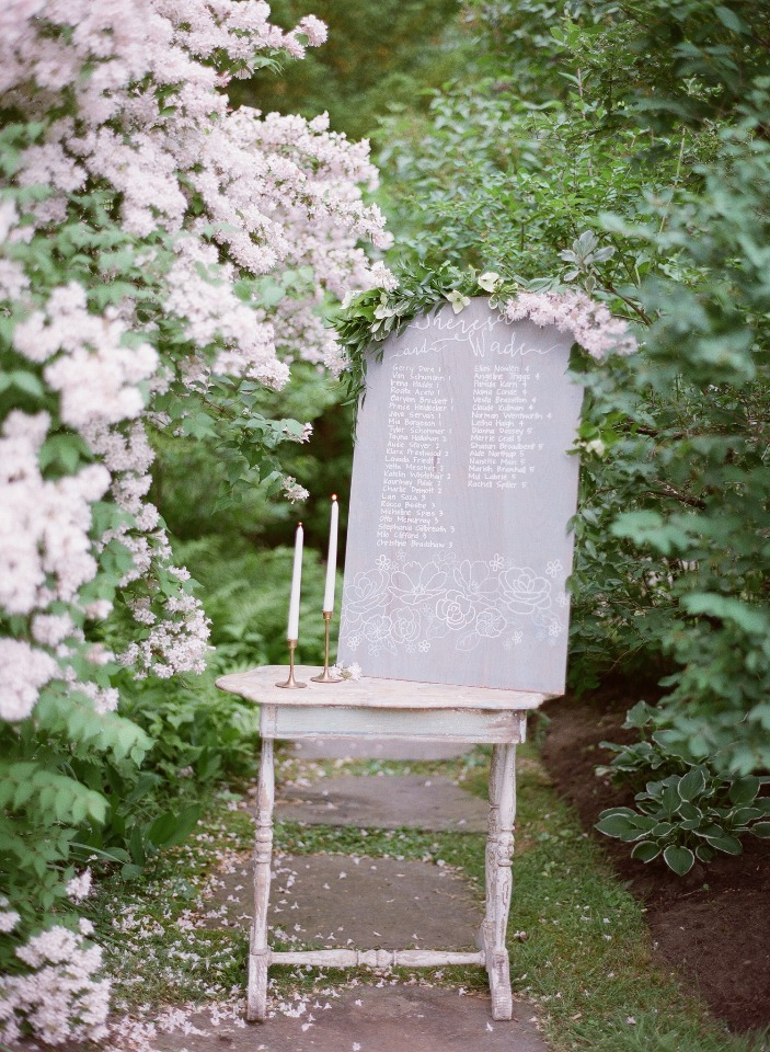wedding seating assignment for your garden wedding
