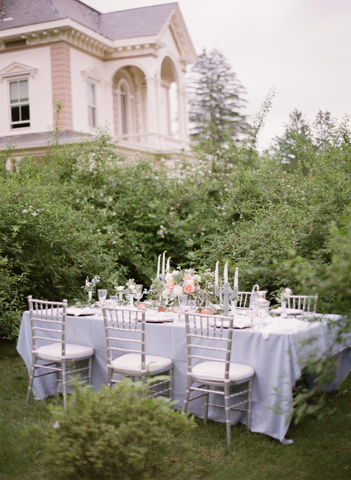 hidden garden wedding reception