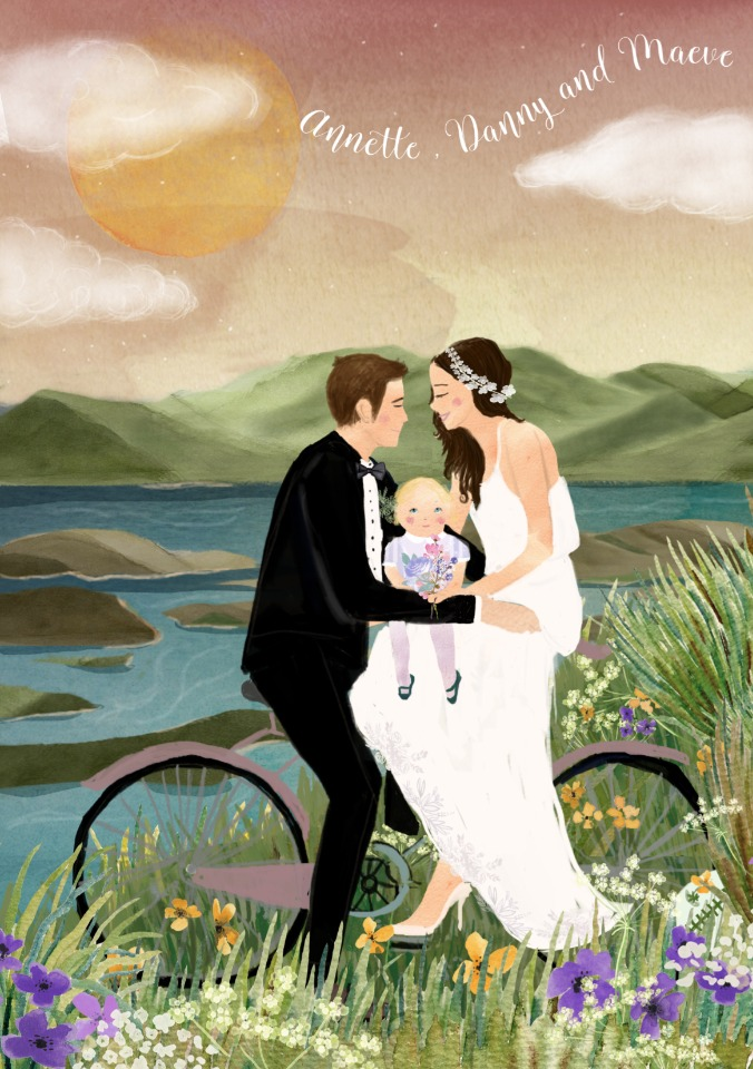 Till Dawn Custom Wedding Illustrations