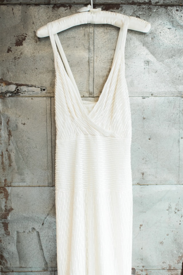 simple and elegant wedding dress from J.Crew
