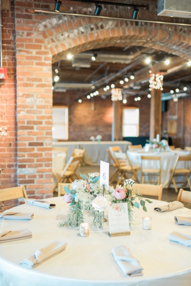 warm and industrial wedding venue