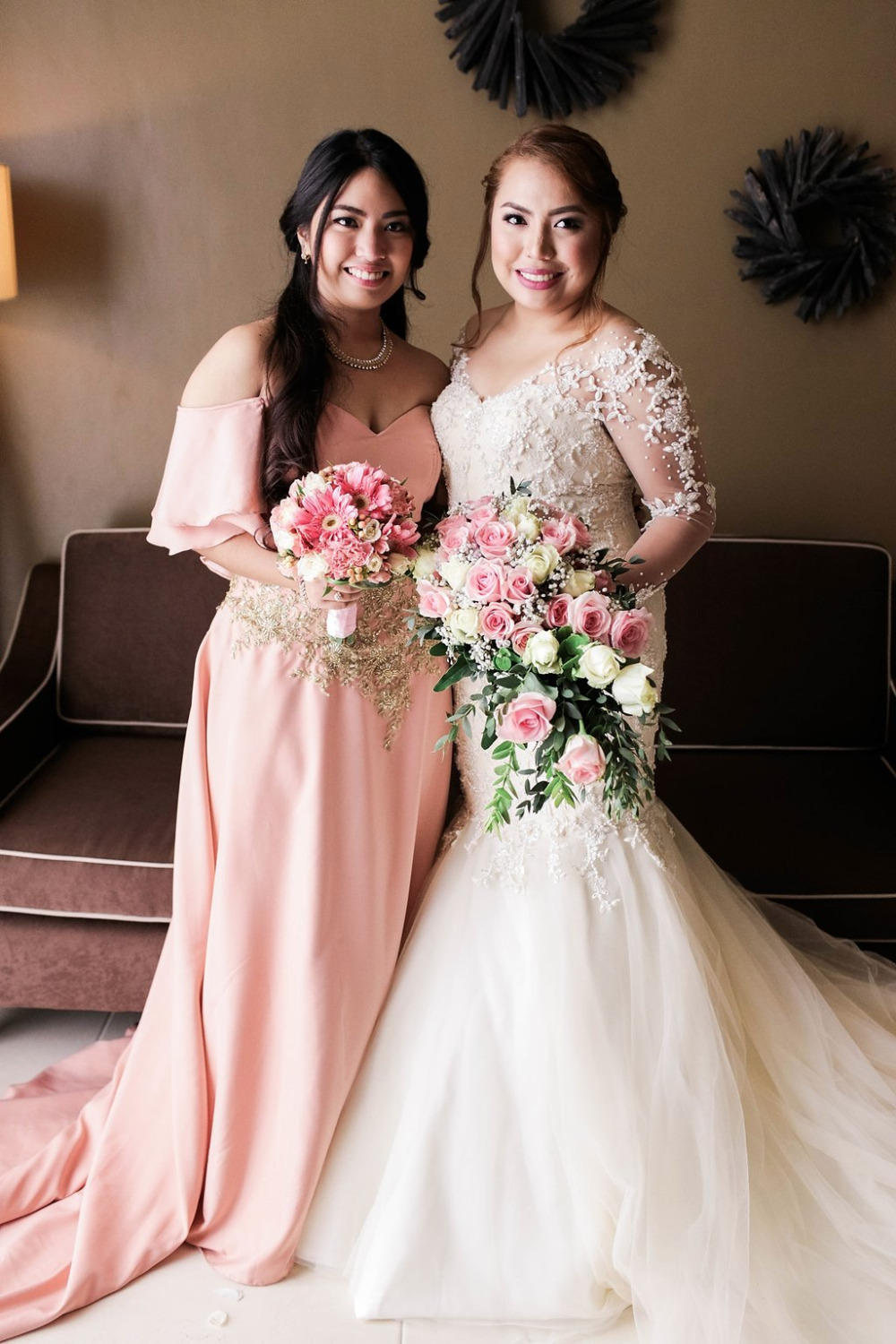 Pink european inspired philippines wedding flowy pink bridesmaids dress ombrellifo Choice Image