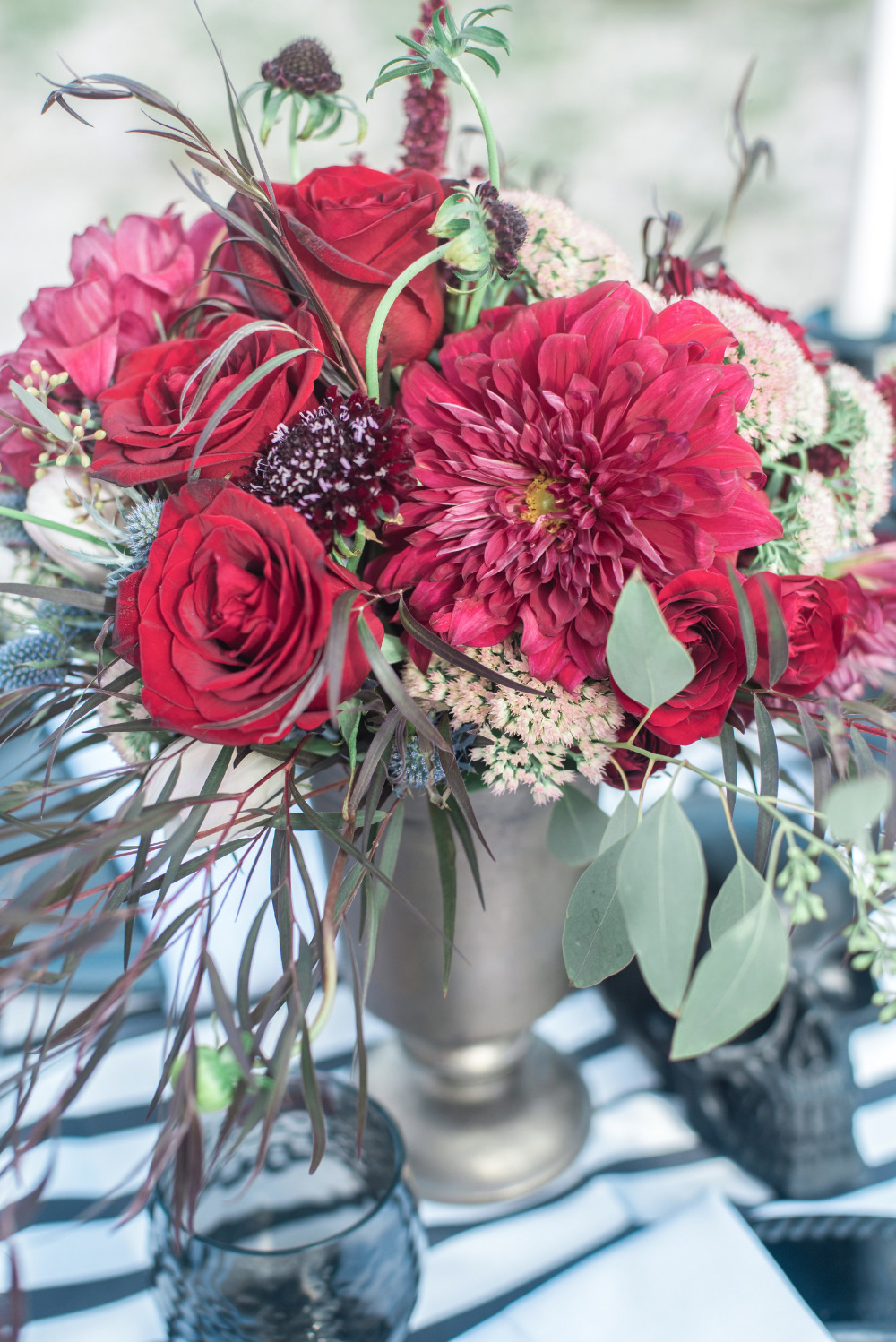beautiful red wedding centerpieces