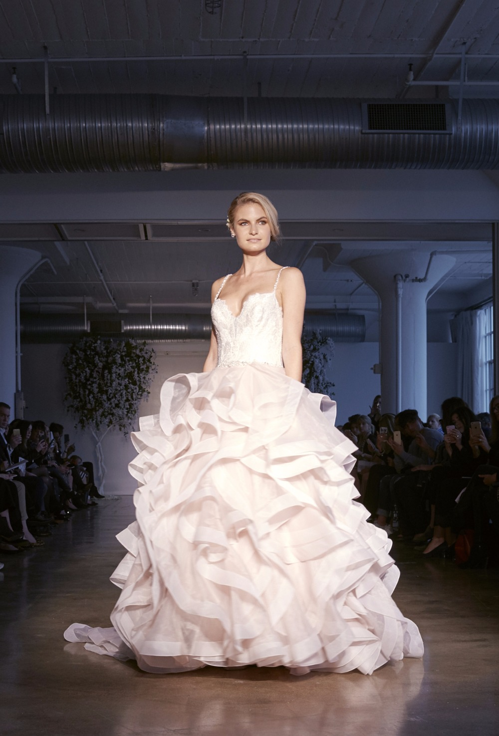 ruffles for days Madeline Gardner wedding gown