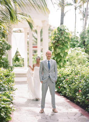 Blue And Green Beach Destination Wedding
