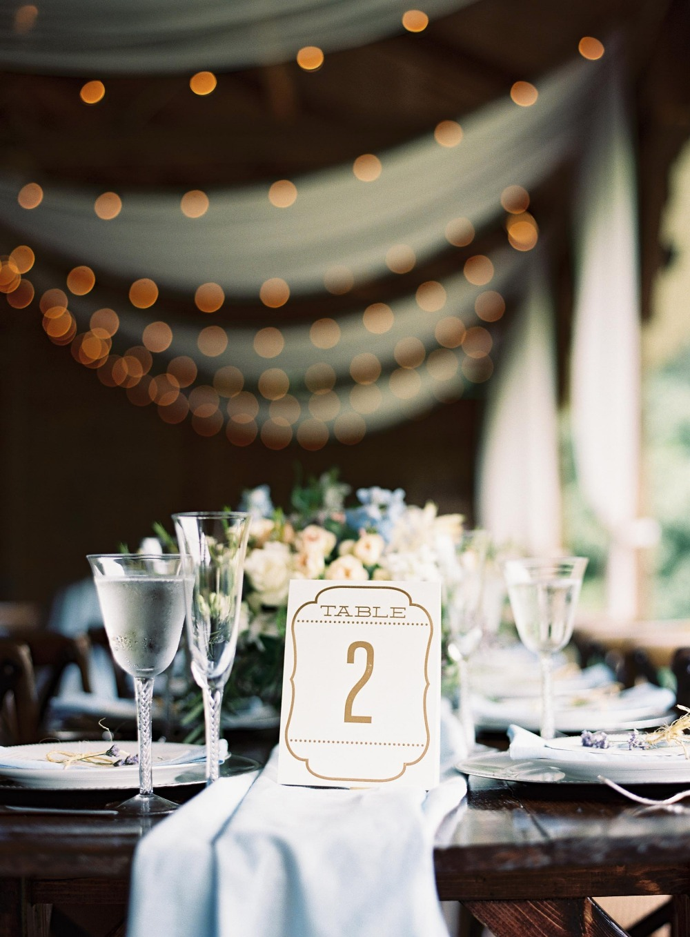 Vintage table number