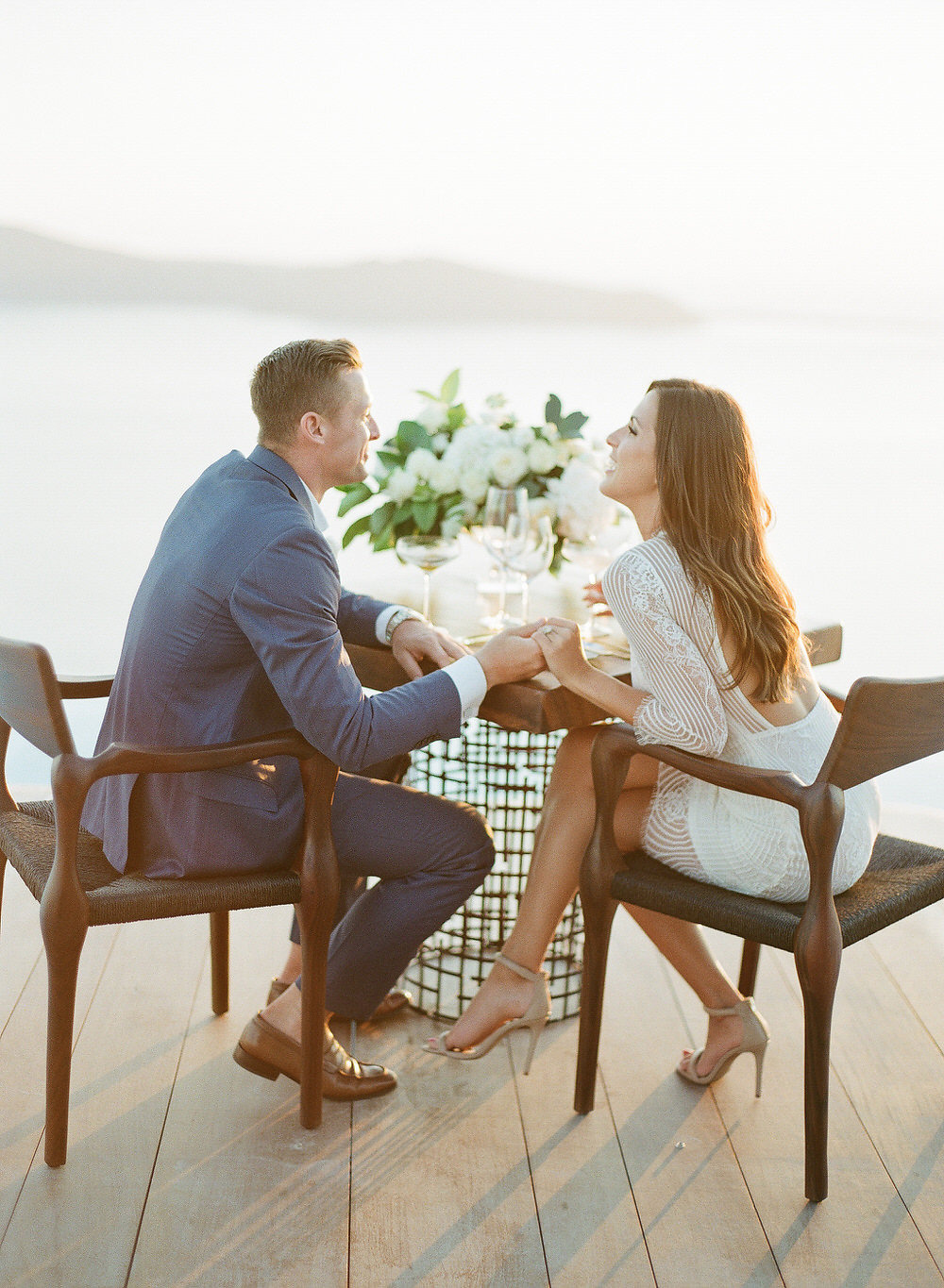 Santorini engagement styled shoot