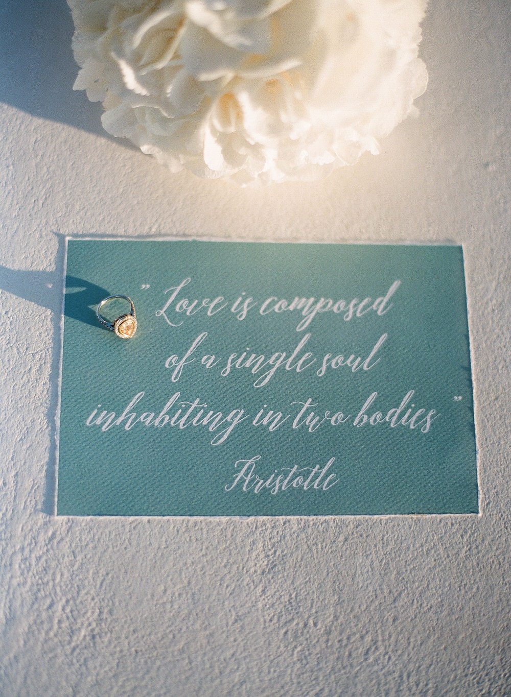 Aristotle love quote wedding sign