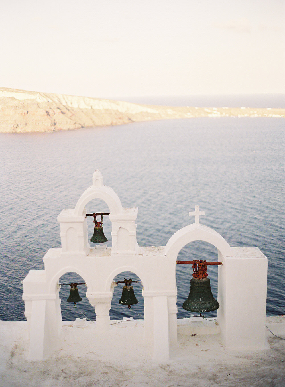 beautiful Santorini Greece bells