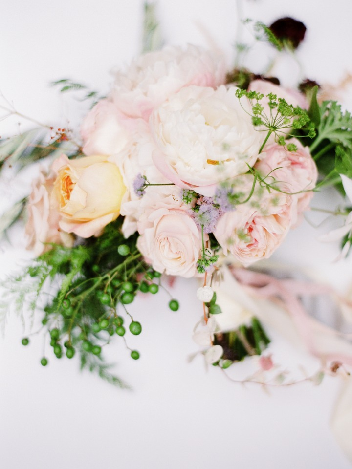 soft blush wedding bouquet