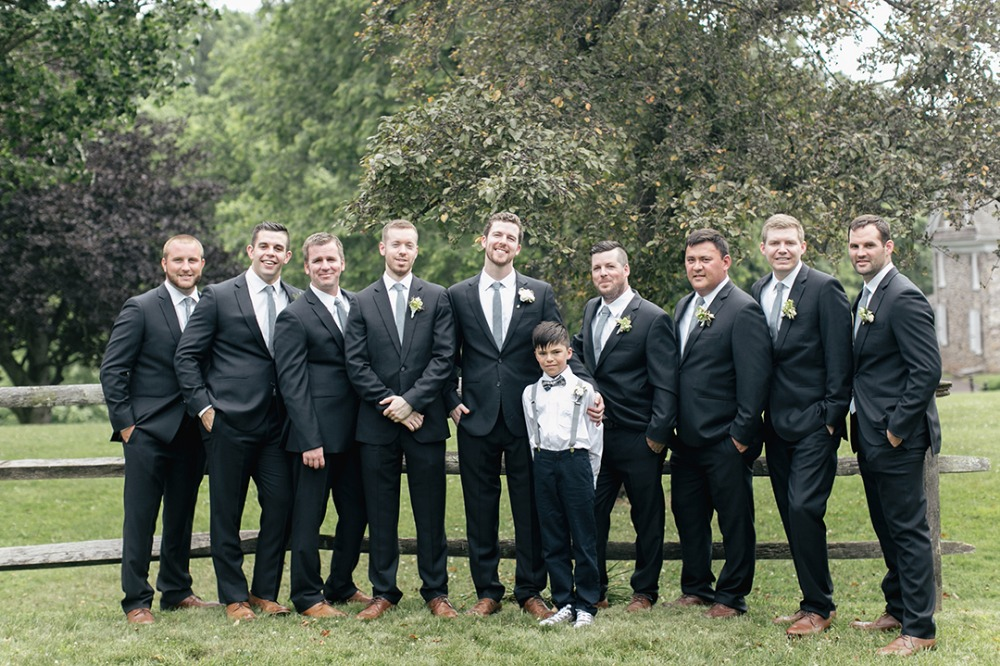 Stylish groomsmen look