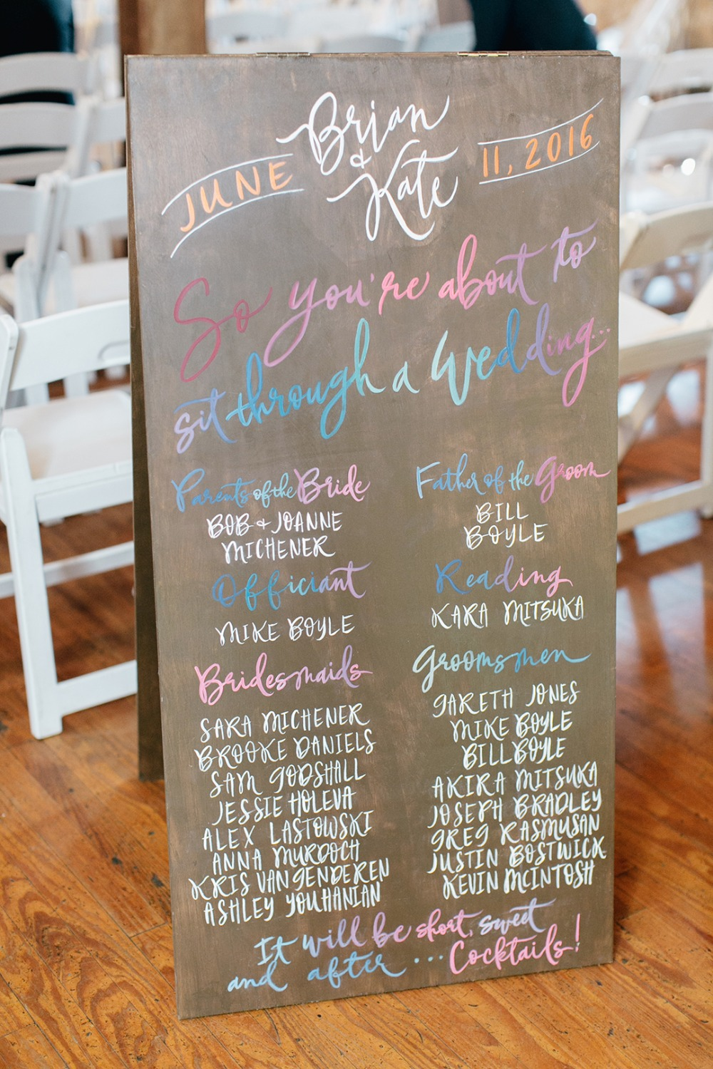 Pretty wedding sign