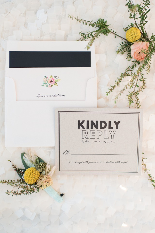 kindly replay wedding rsvp card