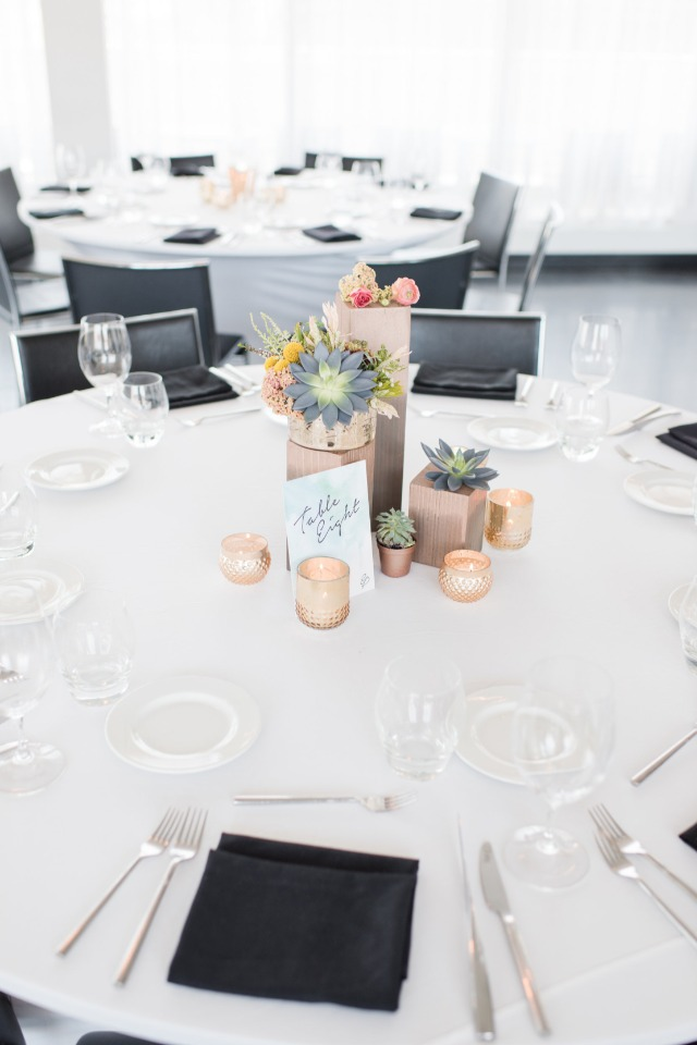 modern and simple wedding table