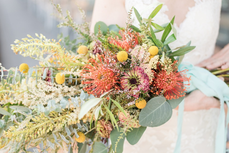 pincushion wedding bouquet