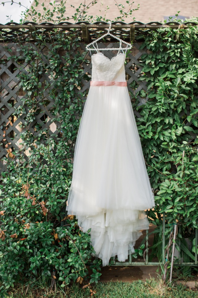 Pretty tulle wedding dress