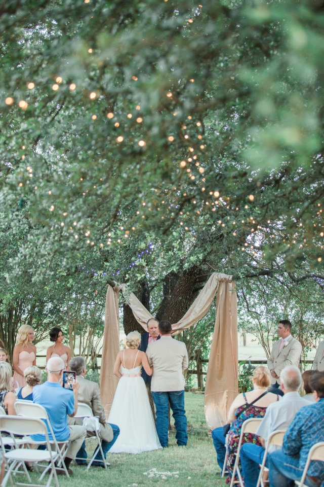 Outdoor wedding in Texas