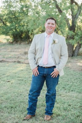 Elegant Blush and White Outdoor Country Wedding In Texas