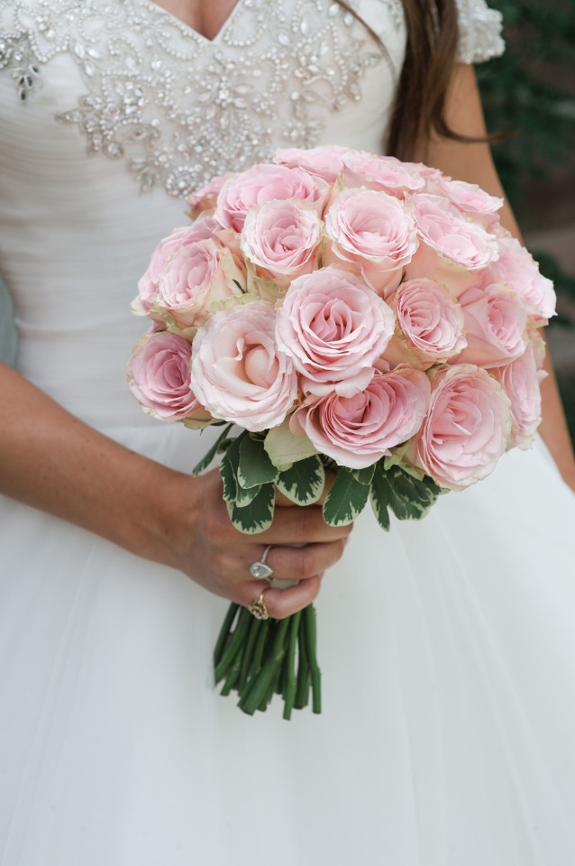 Blush rose boquet