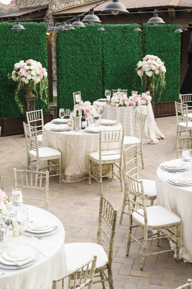 Courtyard reception decor and details