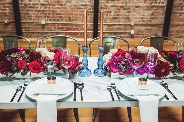 How To Turn Your Industrial Venue Into A Fall Floral Fantasy
