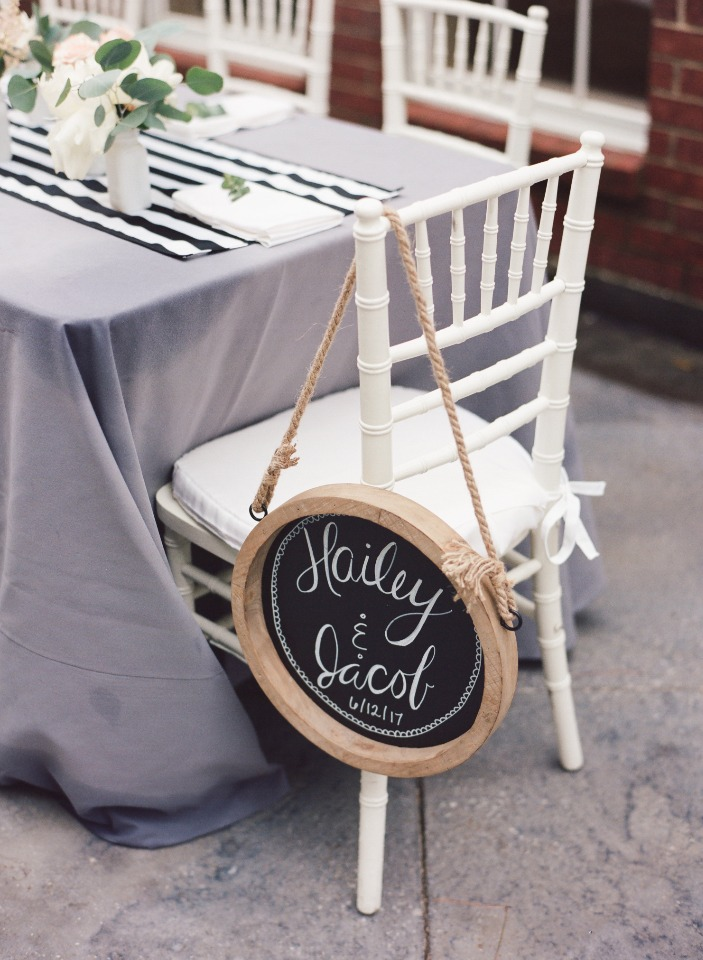 Seating sign idea