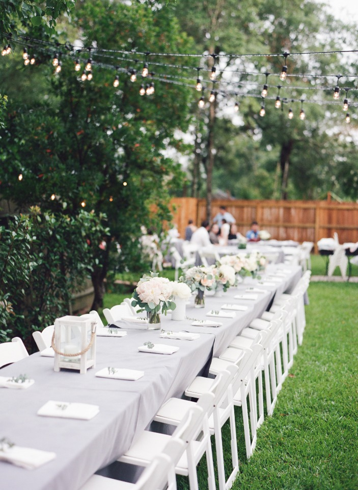 back yard wedding reception seating