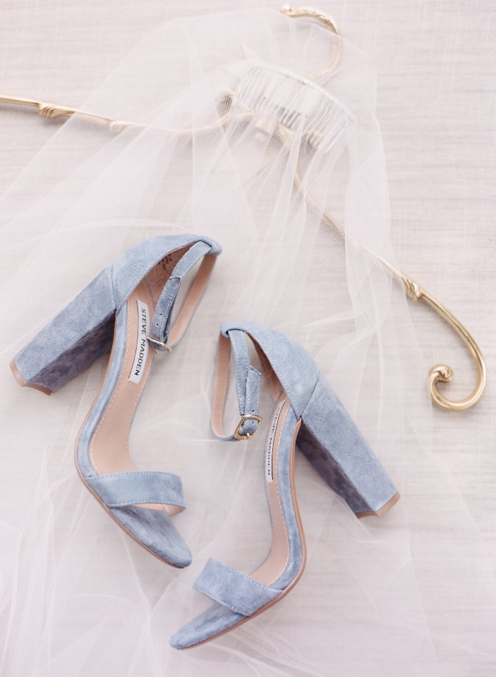 soft blue wedding shoes