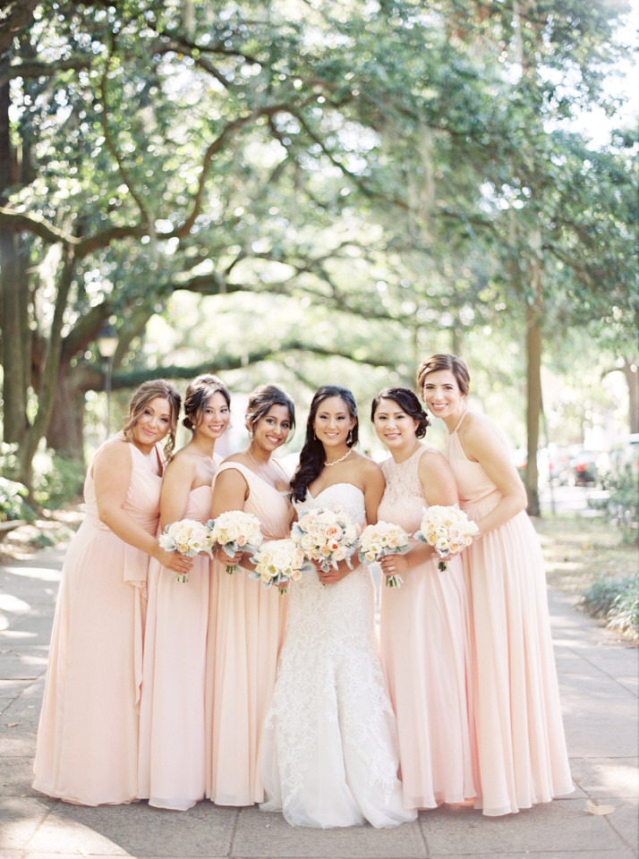 pink bridesmaid dresses from Azazie