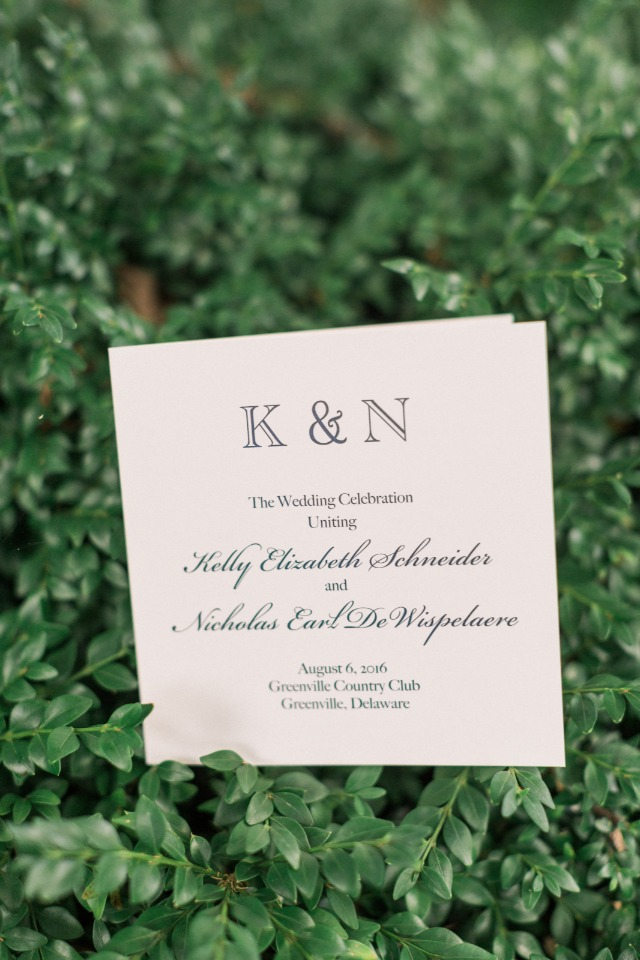 classic wedding invitations with monogrammed header