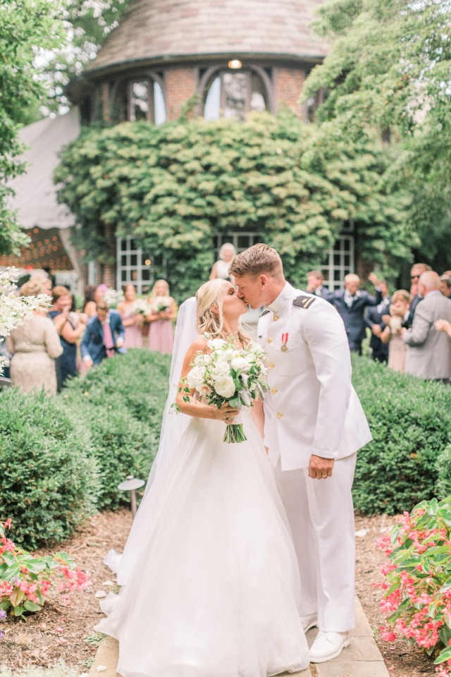 romantic wedding at Greenville Country Club