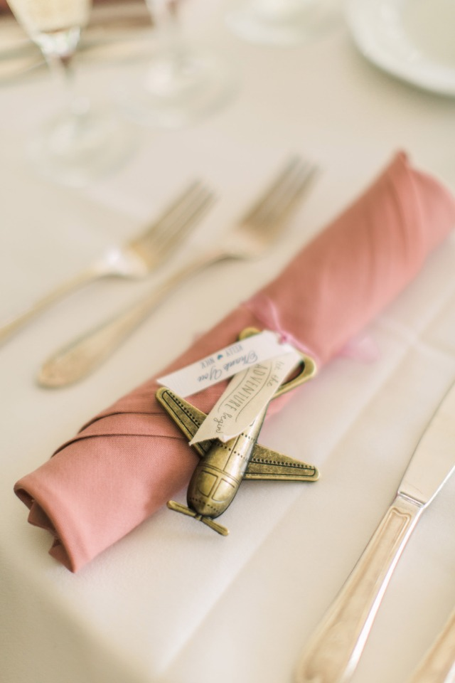 cute airplane bottle opener wedding favor