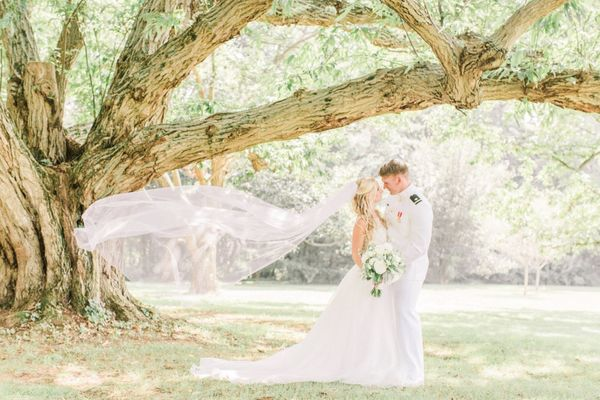 White Pink and Gold Classic Garden Wedding in Wilmington Delaware