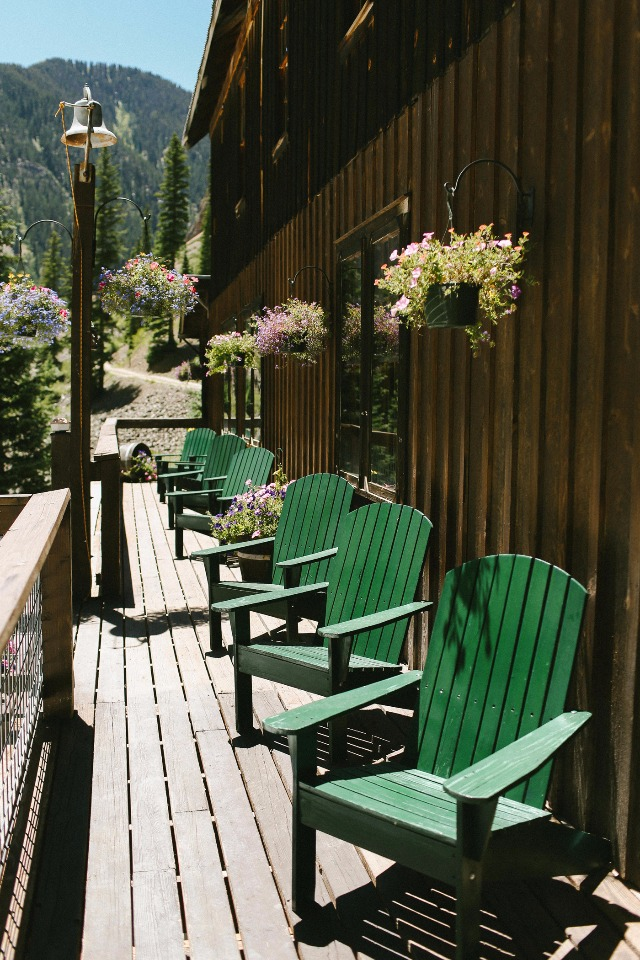 relax on the Eureka Lodge porch