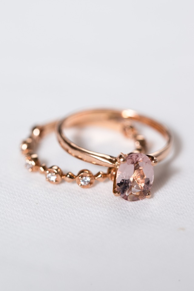 Genevieve and Fleur rings from Davie & Chiyo