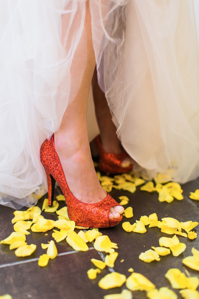 ruby red wedding shoes