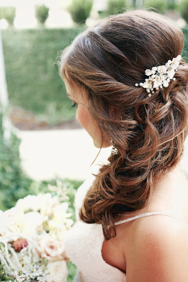 Romantic bridal hair