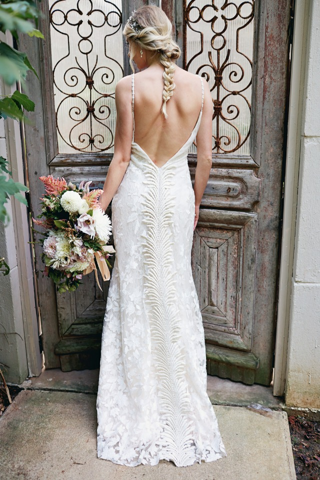 Beautiful low back wedding dress